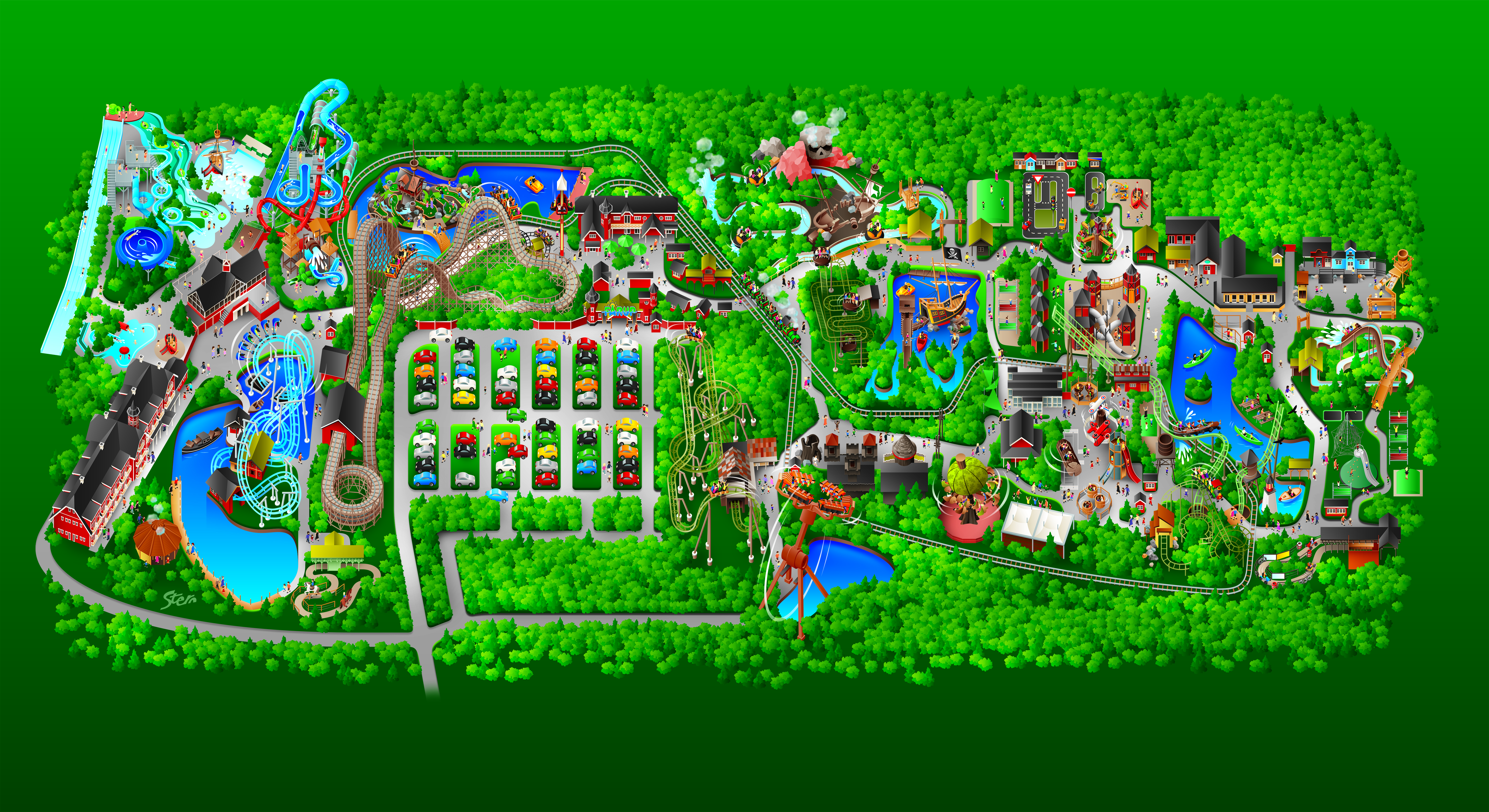 Oversiktskart Over Parken Farup Sommerland